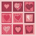 Free Valentine Hearts Set Stock Images - 27966994
