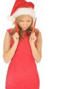 Free Attractive Woman In Santa Cap With Chili Pepper Royalty Free Stock Photo - 27967265