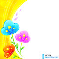 Free Bright Shining Flowers Vector Background Stock Photo - 27969770