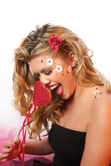 Free Valentine Girl Royalty Free Stock Image - 27960386