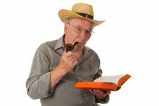 Free Old Man Reading Stock Images - 27960964
