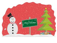 Free Merry Christmas Stock Photography - 27961332