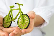 Free Eco Bicycle Icon Stock Photography - 27961682
