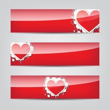 Free Abstract Heart Colorful Web Banner Stock Image - 27962501