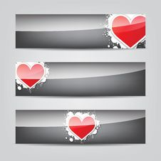 Free Abstract Heart Colorful Web Banner Royalty Free Stock Image - 27962506