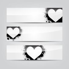 Free Abstract Heart Colorful Web Banner Stock Images - 27962514