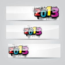 Free Abstract New Year Headers, Banners Royalty Free Stock Images - 27962519