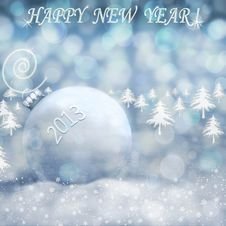 Free Happy New Year 2013 Stock Image - 27963111