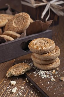 Closeup Of Biscuits Stack Royalty Free Stock Photos