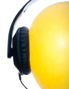 Funny Headset On The Balloon Royalty Free Stock Images