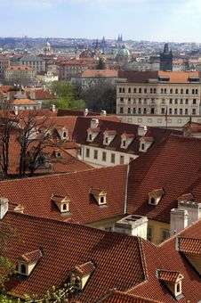 Free Red Roofs Of Old Prague Royalty Free Stock Photography - 27967387