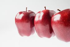 Free Three Red Apples Stock Photography - 27968852