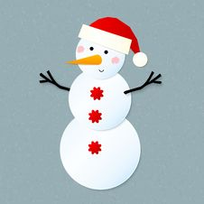 Free Vector Paper Snowman Stock Images - 27969754