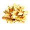 Free Golden Gift Bow On Pure White - Clipping Path Stock Image - 27960471