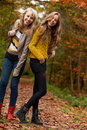 Free Smiling Teenagers In The Forest Royalty Free Stock Photo - 27976155