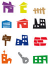 Free Real Estate Icons Royalty Free Stock Images - 27976169