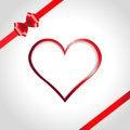 Free Heart And Ribbon Bow Royalty Free Stock Photos - 27976218