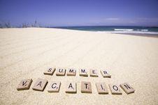 Free Summer Vacation Royalty Free Stock Photos - 27970968