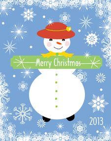 Free Christmas Greeting Card Royalty Free Stock Photo - 27971595