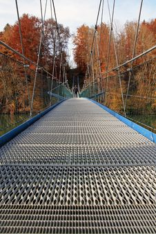 Free The Big Suspension Bridge Royalty Free Stock Photo - 27972965