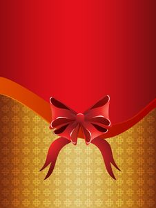 Free Holiday Background With Bow Royalty Free Stock Photos - 27973548