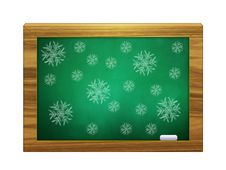 Free Snowflakes On Green Board Royalty Free Stock Image - 27973556