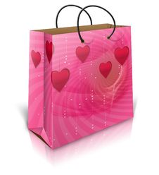Free Valentines Shopping Bag Royalty Free Stock Photo - 27973565