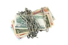 Free Chained Money Royalty Free Stock Photos - 27975038