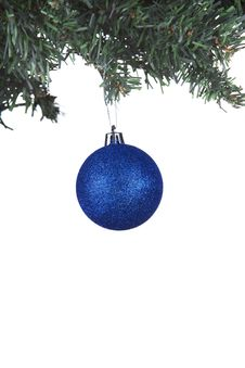 Christmas Ball On A Fir Tree Royalty Free Stock Photography