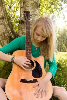 Try To Play Guitar Stock Images