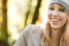 Free Smiling Forest Girl Royalty Free Stock Photo - 27975955