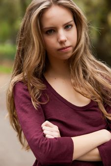Free Teen Is Waiting Stock Photography - 27976092