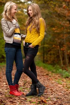 Free Teens In The Autumn Stock Photos - 27976123