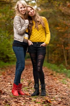 Free Girlfrineds In The Woods Stock Photos - 27976143