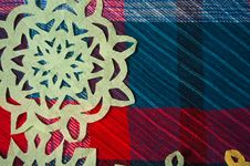 Free Winter Background With Handmade Paper Snowflakes Royalty Free Stock Images - 27976199