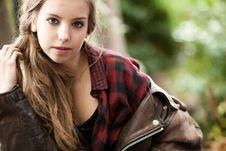 Free Sturdy Autumn Girl Royalty Free Stock Photo - 27976285