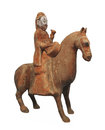 Free Ancient Man On Horse Statue Isolated. Stock Images - 27980154