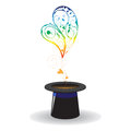 Free Hearts Coming Out Of Magical Hat Stock Photo - 27982230