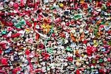 Seattle Gum Wall Close Up Royalty Free Stock Photography