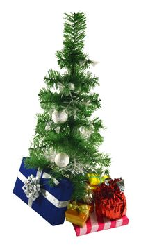 Free The Conifer With Gifts Royalty Free Stock Photos - 27983658