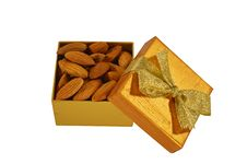 Free The Box With Almond Stock Image - 27983671