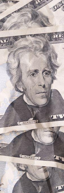 Money, Twenty Dollar Bills Stock Photo