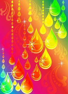 Free Drops On Rainbow Stock Photo - 27986240