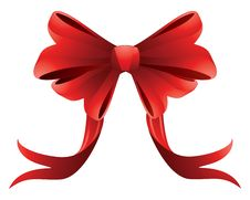 Free Holiday Red Bow Stock Photo - 27986810
