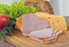 Free Smoked Meat And Cheese Royalty Free Stock Images - 27989979