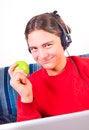 Free Teenage Boy Using Laptop Royalty Free Stock Image - 27996996