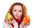 Free Red-haired Girl With A Pears Royalty Free Stock Image - 27999376