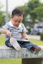 Free Little Boy Using A Tablet Stock Photo - 27999470