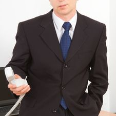 Free Businessman Calling On The Phone. Stock Photography - 27990332