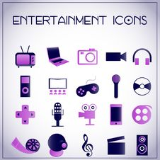 Free Entertainment Icons Stock Images - 27992474